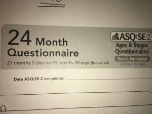 24 month questionnaire