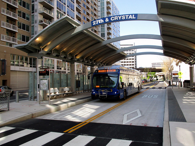 Photo of BRT station in Arlington