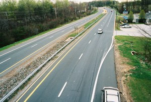 Photo of dangerous two-lane highway.