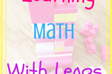 Learning Math With Legos