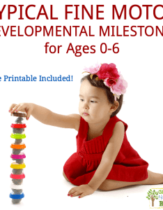Typical fine motor developmental milestones for ages free printable list included also rh growinghandsonkids