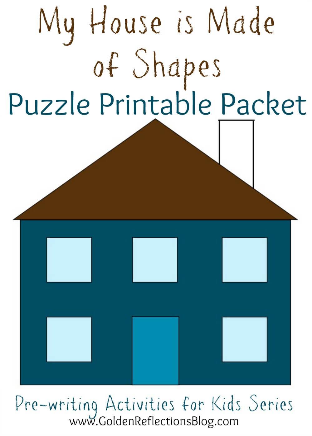 House Made Shapes Worksheet