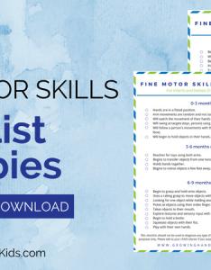 Fine motor skills checklist for babies also months old rh growinghandsonkids