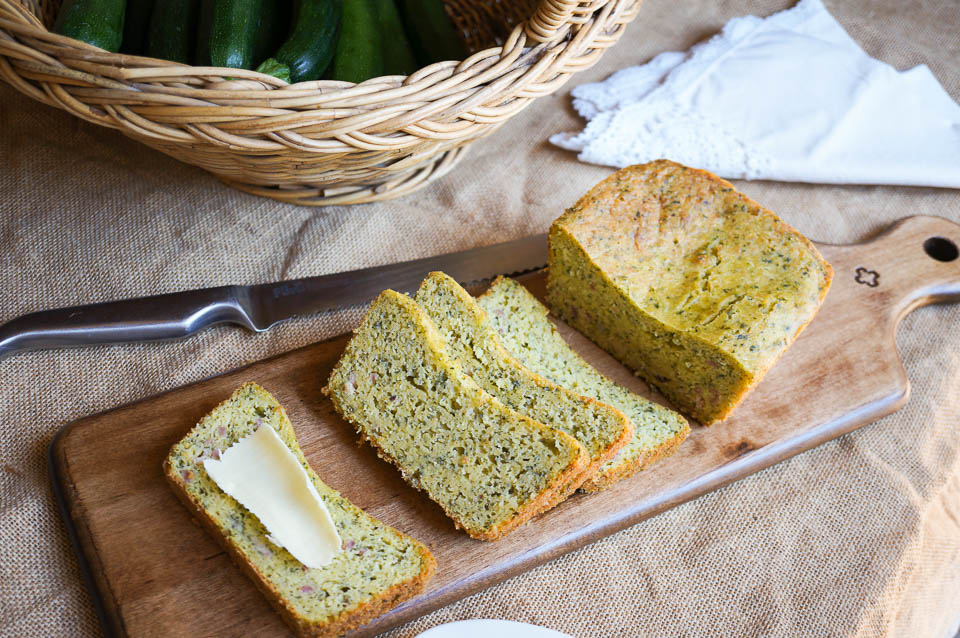 Zucchini, Ham and Cheese Loaf | Gluten Free, Low FODMAP | Growing Home