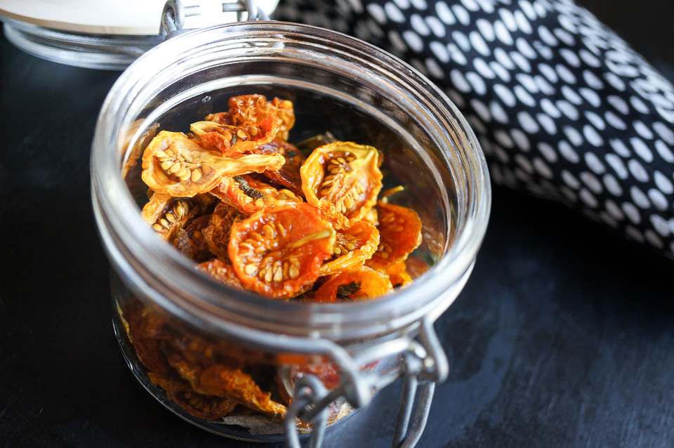 Herb, Salt and Vinegar Dried Tomatoes | Gluten Free, Low FODMAP | Growing Home