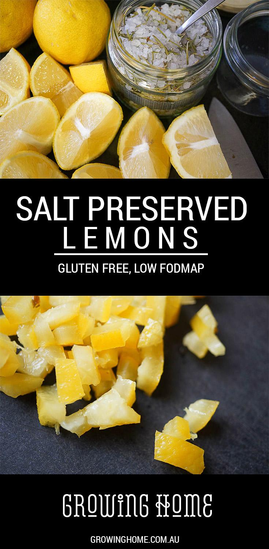 Salt Preserved Lemons | Gluten Free, Low FODMAP | Growing Home