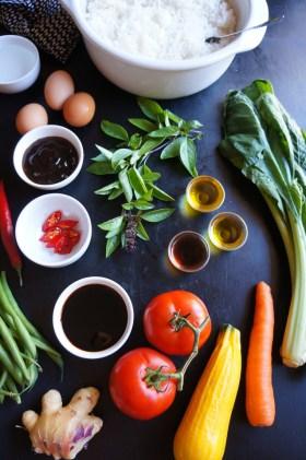 Thai Basil Fried Rice | Gluten Free, Low FODMAP | Growing Home
