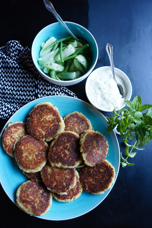 Zucchini, Salmon + Potato Fritters | Gluten Free, Low FODMAP | Growing Home
