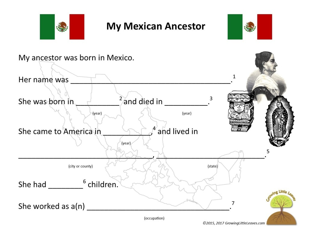 Mexican Independence Day Worksheets