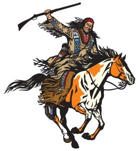 Buffalo hunter with rifle