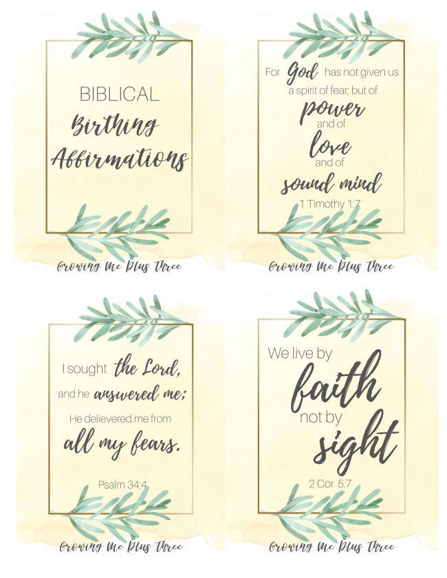 Biblical birth affirmation cards