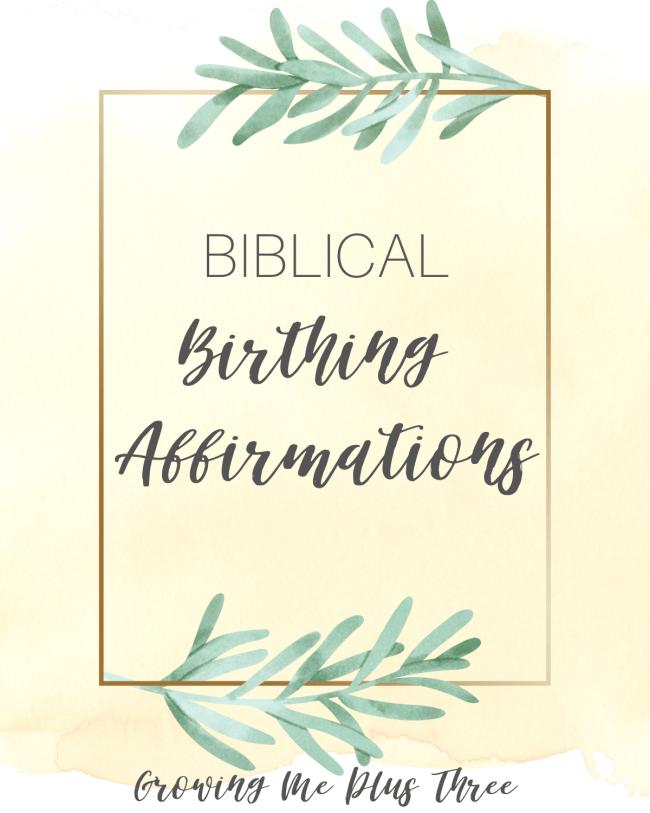 Biblical birthing affirmation cards