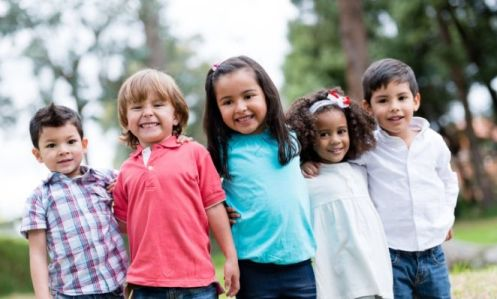 group of young kids with arms around each other