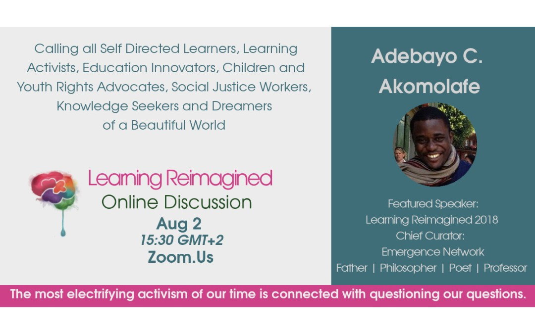 Online Conversation with Bayo Akomolafe