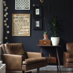 Living Rooms With Dark Grey Feature Walls Room Plants Ideas Impulsive Decorating Our Black Wall Growing Spaces