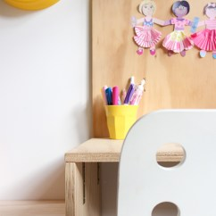 Ikea Junior Desk Chair Yoga Exercises For Elderly Diy Plywood Kid's Area And Hack: Ez's Bedroom | Growing Spaces