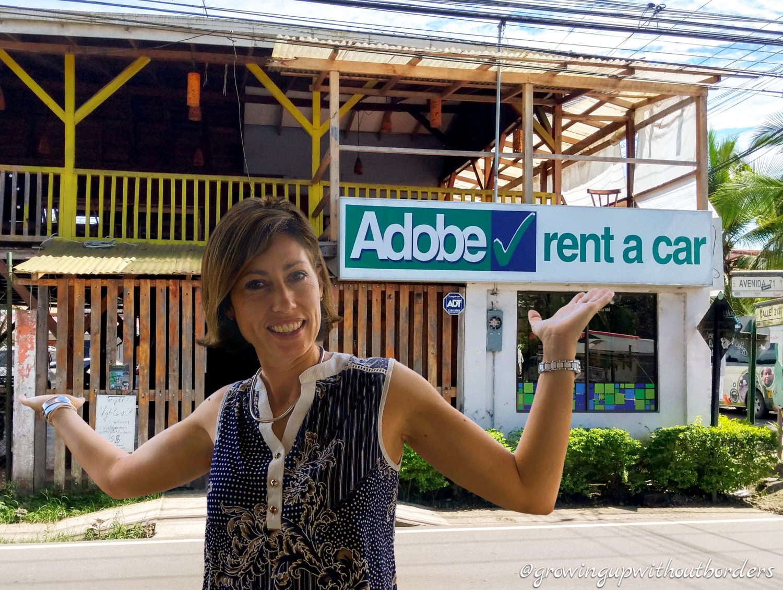 Costa Rica, Adobe rent a car, Puerto Viejo