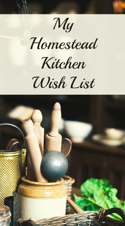 These are the items to dream of for a homestead kitchen. A wish list of kitchen items for country kitchens.