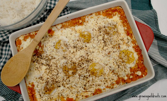 Recipe: Red Lentil Egg Bake. This recipe is quick, easy, nutritious, and full of flavour. A great family dinner idea.