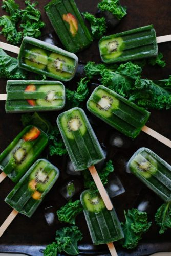 Healthy Popsicles Bucket List for summer. Here are wholesome recipes for delicious ice pops to try this summer such as these green smoothie pops.