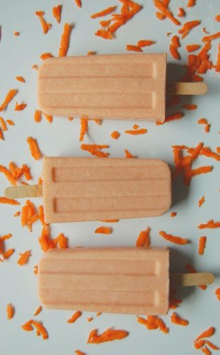 Healthy Popsicles Bucket List for summer. Here are wholesome recipes for delicious ice pops to try this summer, such as these probiotic carrot cake popsicles.