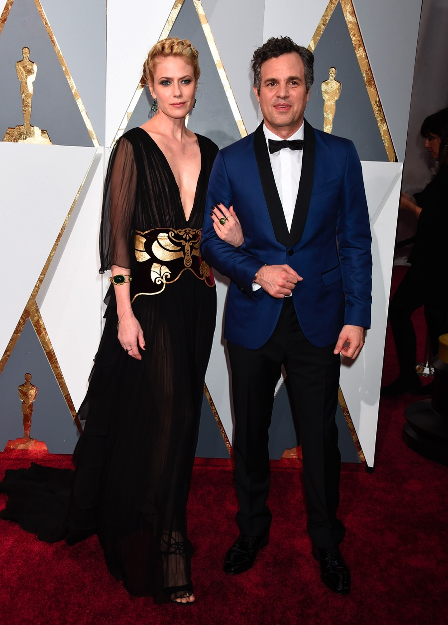 Mark Ruffalo and wife Sunrise Coigney at the 88th Annual Academy Awards - Growing Your Baby