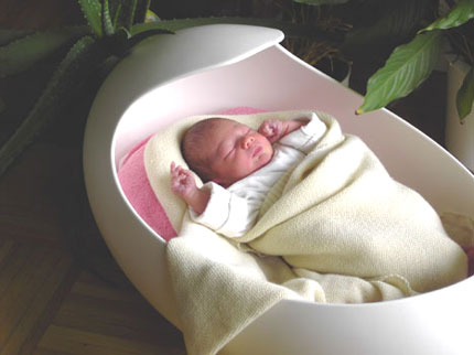 EiMax The Egg Shaped Baby Cradle