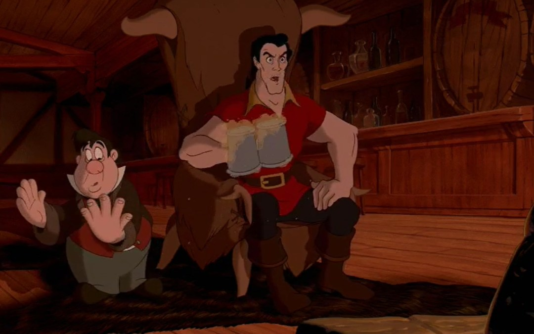 Beauty and the Beast, Minute 25: Don't think of pink elephants