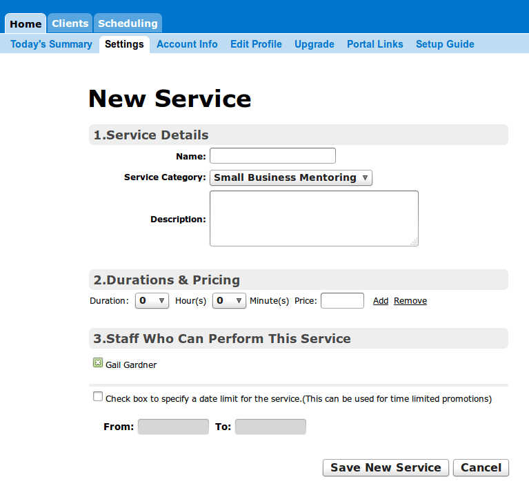 How to Add a New Service To TimePicks Online Appointment Scheduling
