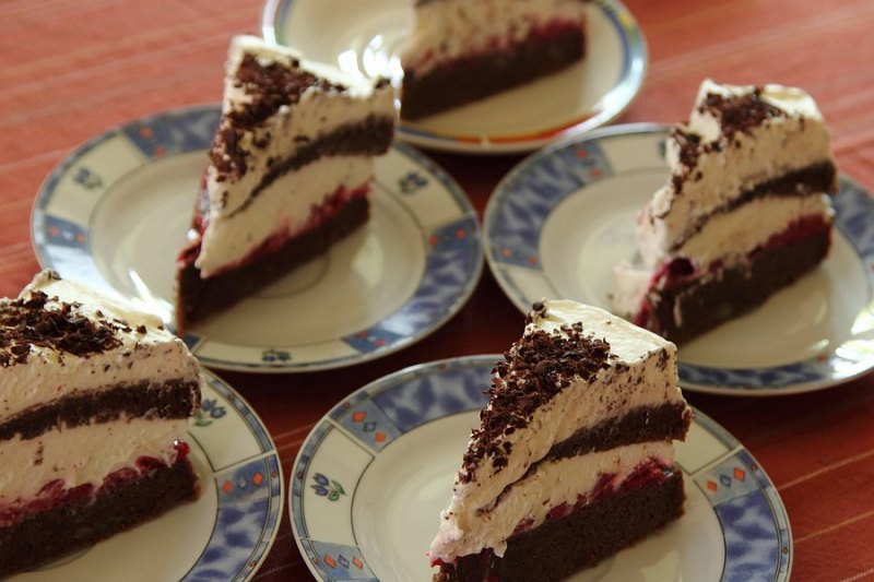 Sour cherry chocolate cake