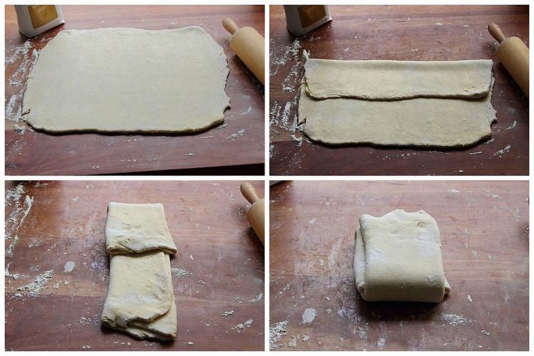 folding Danish pastry