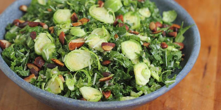 Brussels sprouts and kale salad