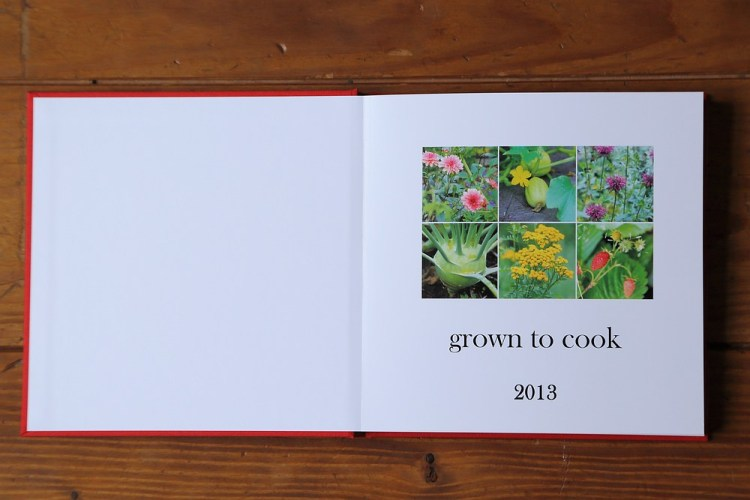 Grown to cook cookbook