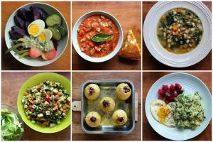 A week of eating from the garden-001