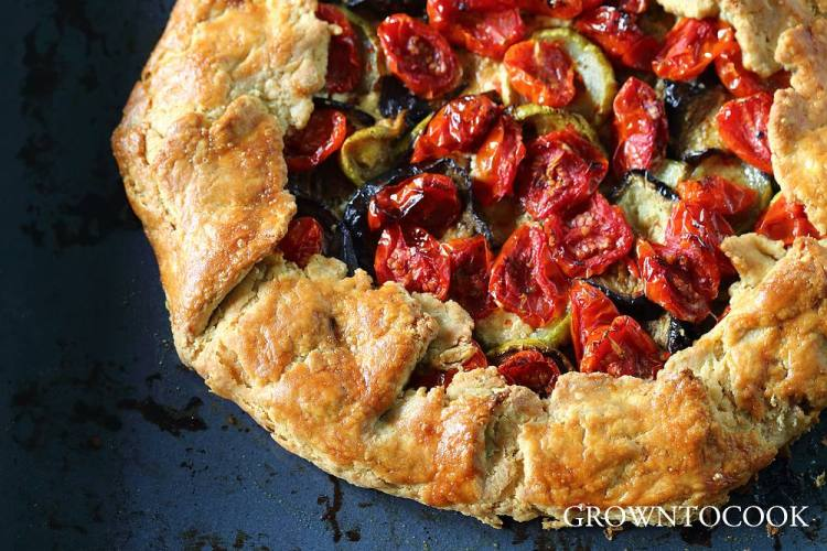 roasted vegetables galette