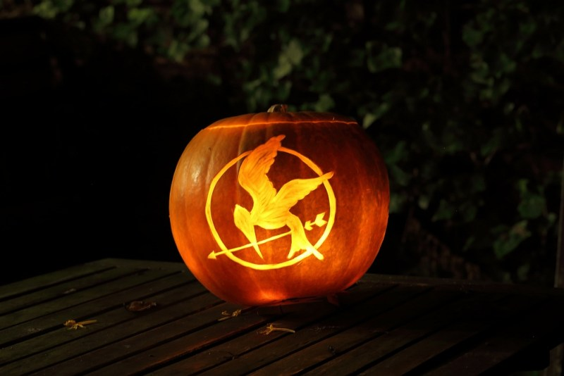 mocking jay pumpkin