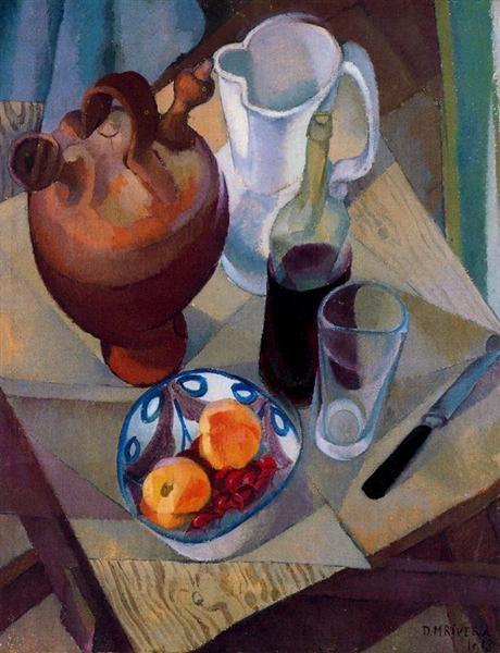 Still Life - Diego Rivera, 1913