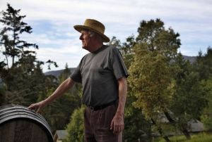 "Jerold O'Brien started Silver Mountain Vineyards 30 years ago and is the only vintner to put ""organically grown grapes"" on his wine labels. Photo: Preston Gannaway, Special To The Chronicle"
