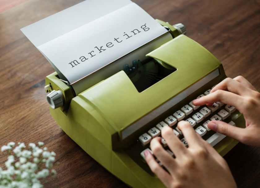 Old Style Marketing Typing Typewriter Copywriting