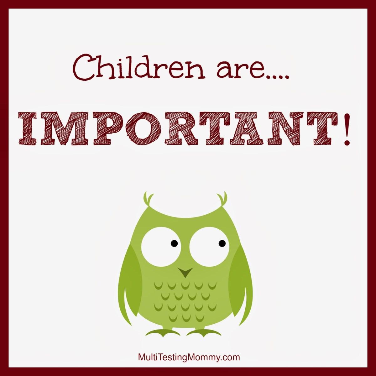 Kinderen zijn belangrijk