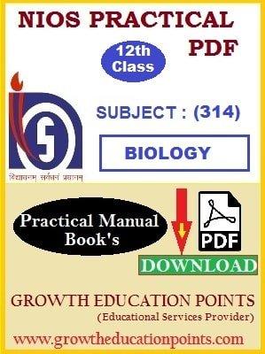 Nios Biology (314) Practical PDF File (English Medium)