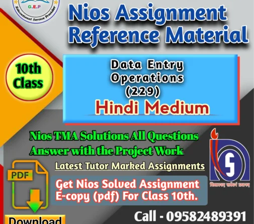 data entry 229 Nios solved assignment