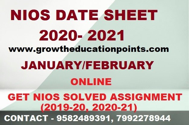Nios Date sheet 2021-22