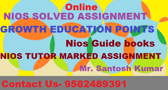 Nios solved TMA Question With Answer