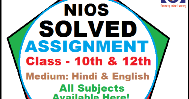 online nios solved assignment