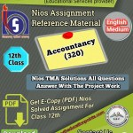 Nios Accountancy – 320 Solved Assignment PDF File
