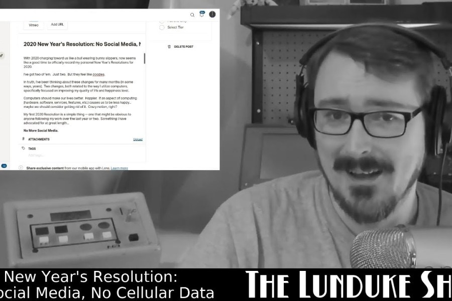 2020 New Year's Resolution: No Social Media, No Cellular Data