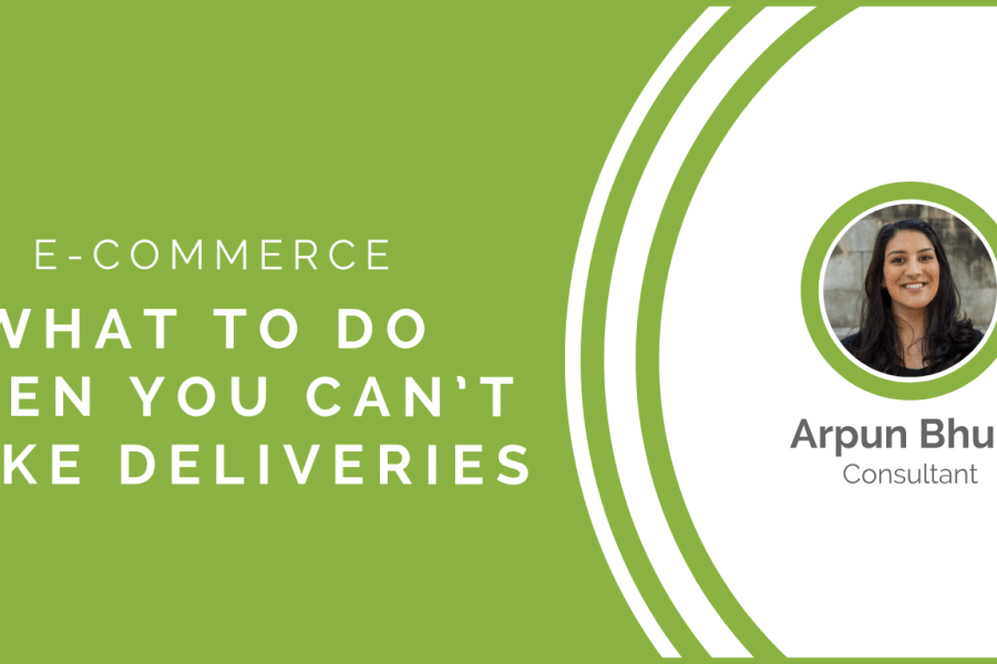 E-commerce: What to do when you can't make deliveries