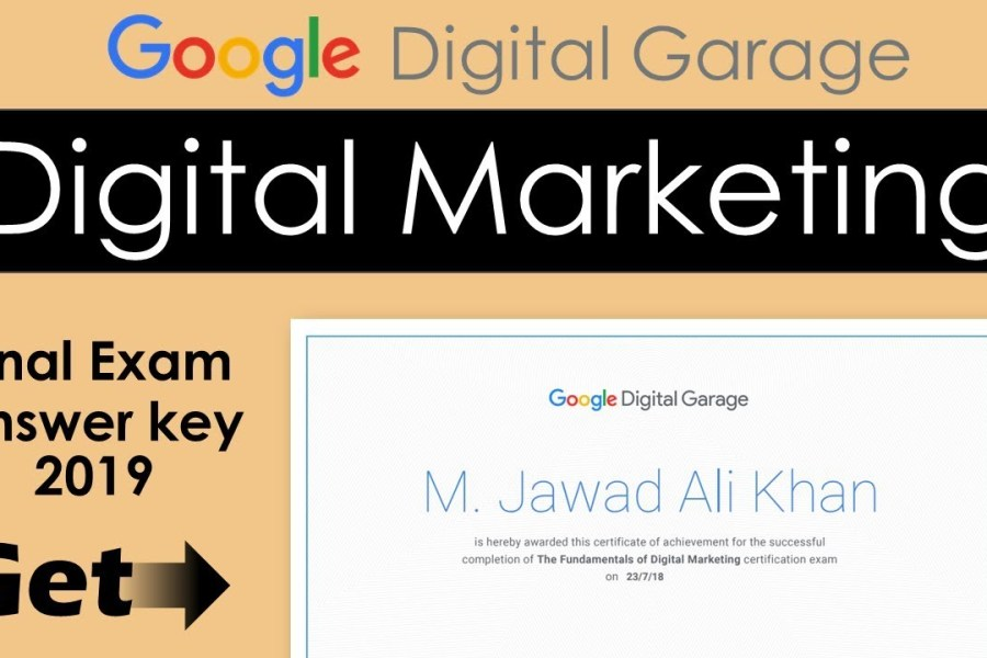 Google Digital Marketing Garage Certification Final Exam Answers | 2020 updated