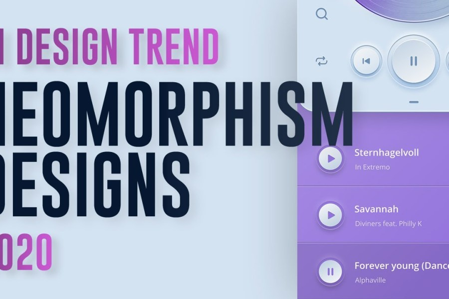 Neomorphism | Awesome UI Designs |  UI Design Trends 2020